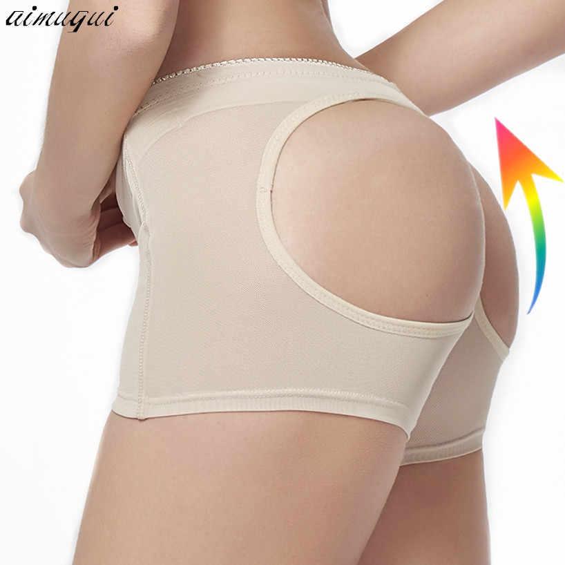 Sexy kobiety Mesh bielizna modelująca pośladki majtki Hip butt enhancer boysorts bielizna Body Shaperwear kobieta butt Booty Lifter majtki