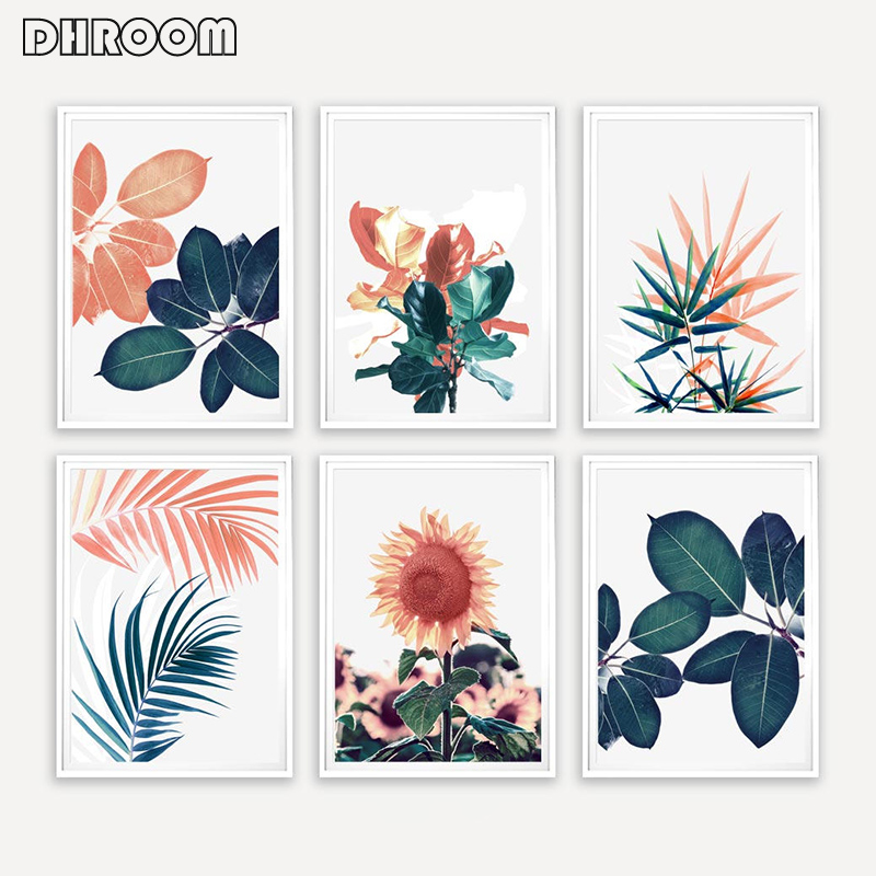Dhroom Tropical Leaf Print Palm Sunflower Canvas Art Painting Green Leaves Wall Art Wall Pictures For Living Room Poster Art Buy At The Price Of 2 80 In Aliexpress Com Imall Com Explore trending designs from independent artists. dhroom tropical leaf print palm