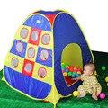 Preço de promoção de qualidade 9 buracos bonito Do Presente Do Bebê criança jogo tenda casa criança jogo tenda do esporte, brinquedo da criança presente ZP2013