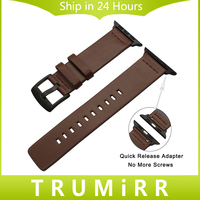 Italy Genuine Leather Watchband New Adapters For IWatch Apple Watch 38mm 42mm Series 1 2 3