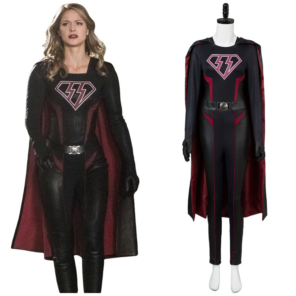 Supergirl Overgirl  Kara Zor-El Danvers Cosplay Costume Full Set Uniform For Woman Girls Halloween Carnival Cosplay