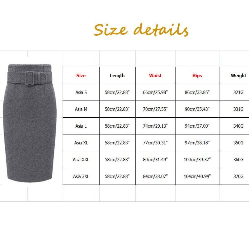 e233c0604 € 25.17 |Nueva moda otoño invierno estilo 2015 mujeres rodilla longitud de  cintura alta recta lápiz Midi de la falda y correa S 3X en Faldas de La ...