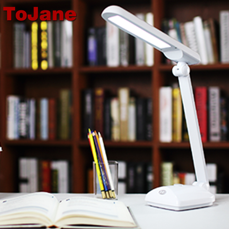 tojane tg159ts dimmable led desk lamp eye protection 3 level brightness ToJane TG2309 Dimmable Led Desk Lamp Eye Protection Desktop Table Light Folding Arm Led Desk Light 9-Level Brightness&Color 8W