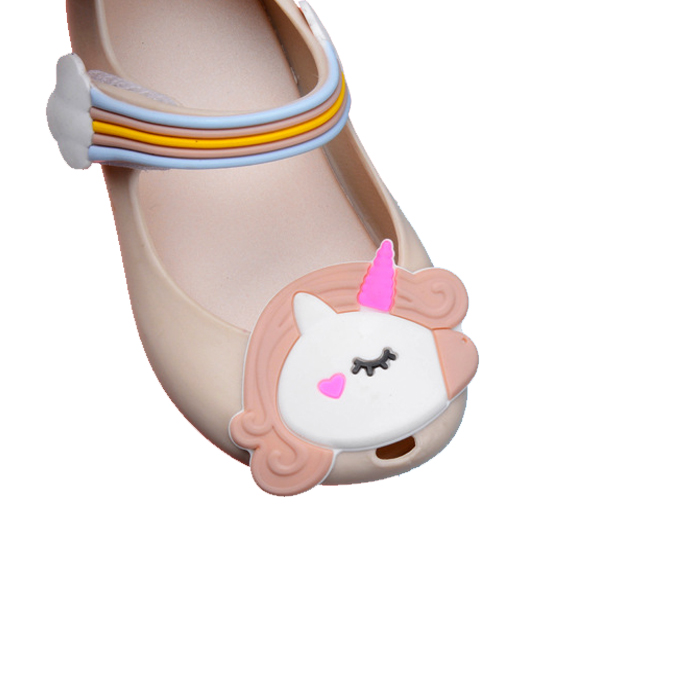Mini Melissa Unicorn Jelly Sandals Girls Shoes 2018 Summer Kids Sandals Toddler Melissa Jelly Sandals Children Cartoon Shoes