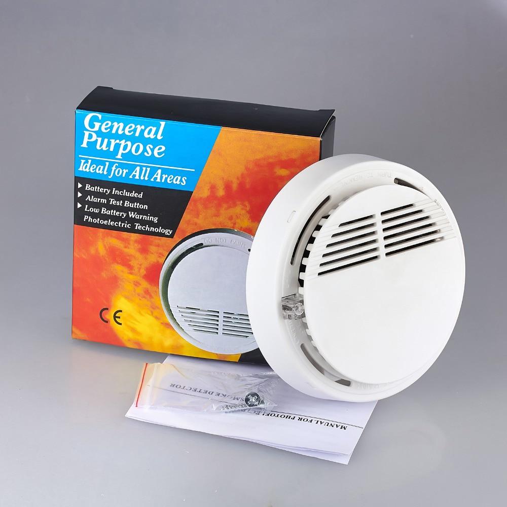 все цены на Fire Smoke Sensor Detector High Sensitivity Independent Alarm Home Store Shop Indoor 85dB Smoke Detector Security System онлайн