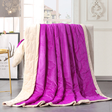 Fashionable Purple Pure Color 200x230cm Throw Blanket Fleece On The Bed Soft Winter Flannel For Sofa Bedspread