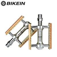 BIKEIN 자전거 MTB 페달 클래식 레트로 스타일 나무 자전거 페달 평면 선반 소매 베어링 발 못 산악 자전거 부품