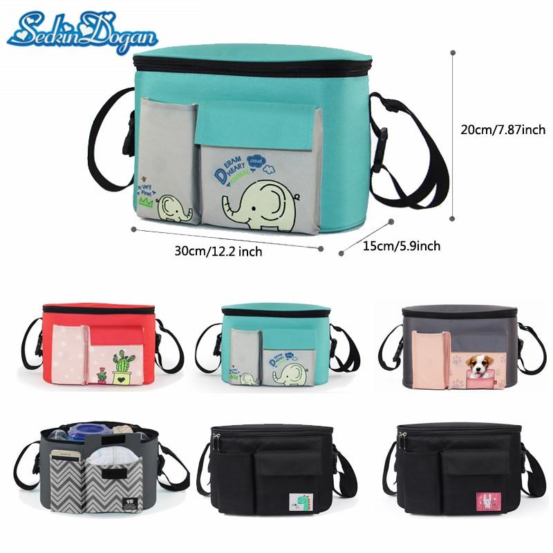 SeckinDogan Baby Stroller Bag Cute Cartoon Nursing Bag Multifunctional Storage Organizer Bag Baby Travel Accessories