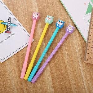 Image 1 - 40 adet karikatür kırtasiye baykuş nötr kalem yaratıcı güzel öğrenci kalem ofis malzemeleri imza kalem