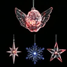 цена на Christmas Ornament White Snowflakes Acrylic Craft Christmas Snowflake Tree Window Transparent Ornaments Decorations For Home