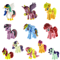 12 Pçs/lote Cavalo Pequeno Bonito Rainbow Dash Pinkie Pie Brinquedos Figuras Presente Das Crianças Crianças Dos Desenhos Animados Figura de Ação Brinquedos Boneca de Vinil