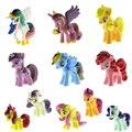 12Pcs/Lot Cute Little Horse Rainbow Dash Pinkie Pie Toys Figures Children Gift Cartoon Children Action Figure Vinyl Doll Toys