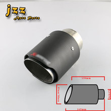 JZZ Car 63mm matte Carbon exhaust tip Stainless Steel Muffler tips Automobile Akrapov exhaust pipe