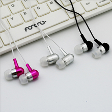 qijiagu Metal In-Ear with Mic Handsfree Earphones music Fashion wired Stereo double bass for PC phone universal