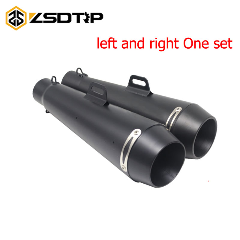 ZSDTRP 51MM Motorcycle Scooter Exhaust Pipe Moto Escape GP Pot Silencer For M4 For Most Motocross Dirt Bike Cross ATV Slip on motorcycle gp exhaust universal muffler 38 51mm slip on for dirt bike street bike scooter atv quad new