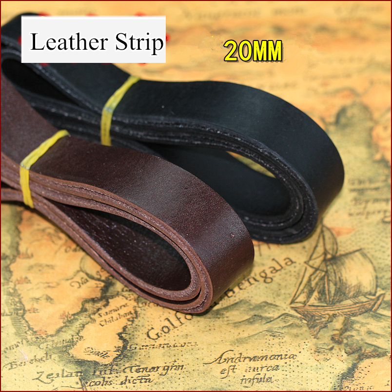 BLACK/COFFEE 100% Genuine Leather Flat 20mm Thread/cord/lace/strip thick DIY craft Thong Jewellery pet tie rope free shipping 4m