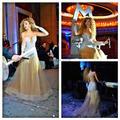 Модные Myriam тарифы музыка концерт с длинным рукавом само шея шампанское тюль кристалл вечерние платья