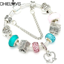 Chieloys Cute Cartoon Charm Murano Gl Beads Fits Diy European Original Pandora Bracelets For Friendship Jewelry Gift