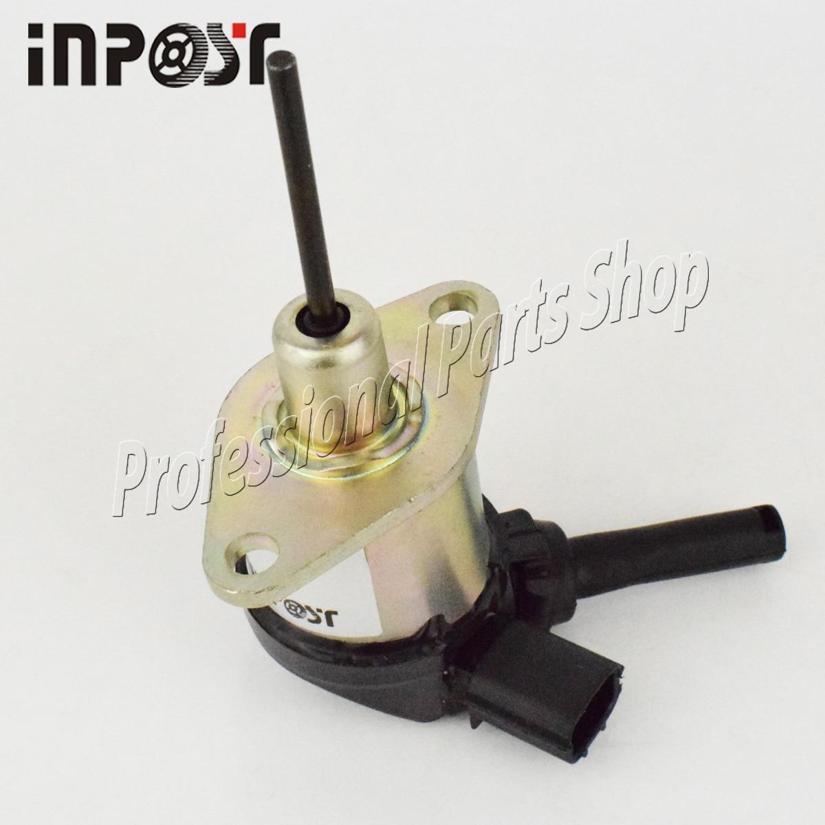 12V Fuel Stop Solenoid 1A021-60015 for Kubota D1503 D1703 D1803 Excavator Mower