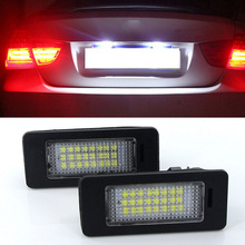 купить 1 Pair LED Car License Plate Lights For BMW 3 5 Series E70 X5 E71 E72 X6 2008-2012 24 LED Bulbs Car Daytime Running Light дешево