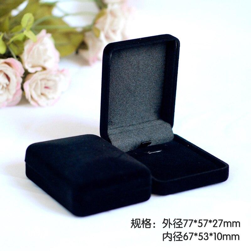 High Quality 12pcs Black Color Square shape Velvet Jewelry box