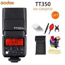 Godox מיני Speedlite TT350C TT350N TT350S TT350F TT350O מצלמה פלאש TTL HSS GN36 עבור Canon Nikon Sony Fuji אולימפוס DSLR מצלמה