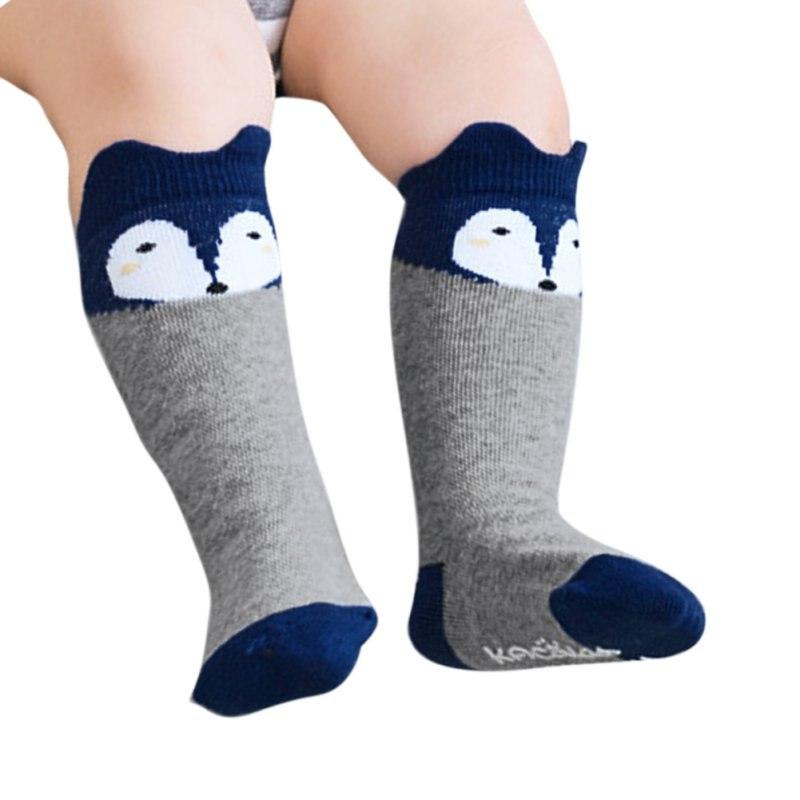 Neugeborenen Kinder Mädchen Junge Tier Muster Anti-slip Knie Hohe Socken Baby Socken Diversifizierte Neueste Designs