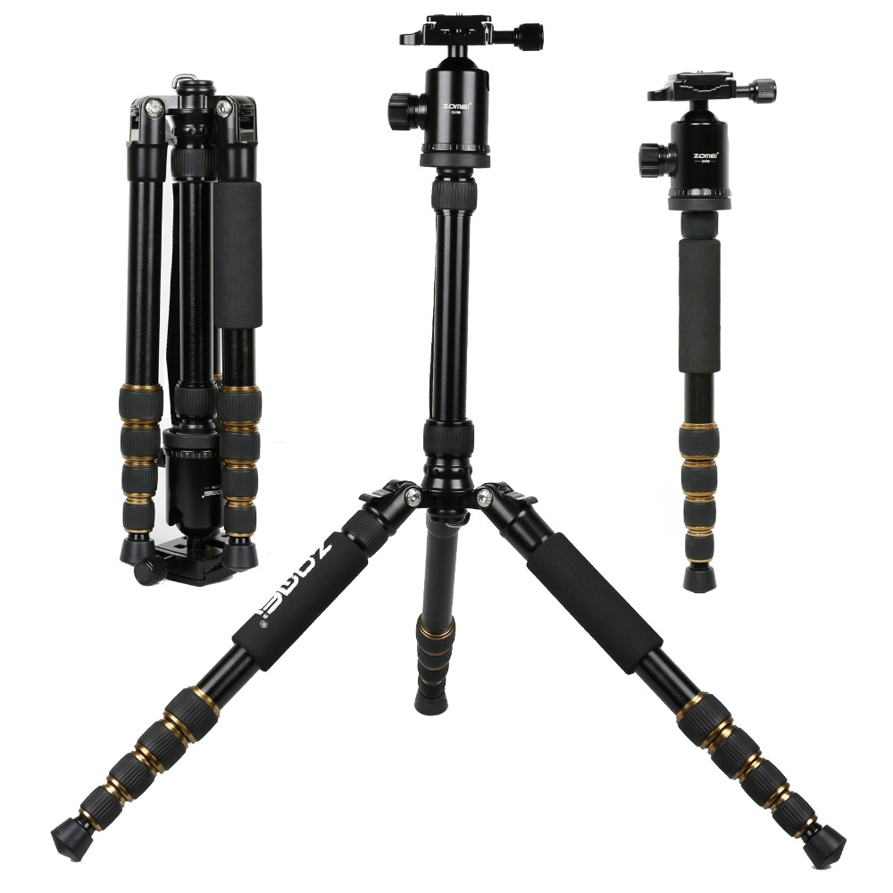 ZOMEI Z699 Magnesium Aluminum Alloy SLR Tripod With Ball Head Compact Reflexed Pocket Travel Monopod For Canon Nikon Sony Camera zomei z888 portable stable magnesium alloy digital camera tripod monopod ball head for digital slr dslr camera