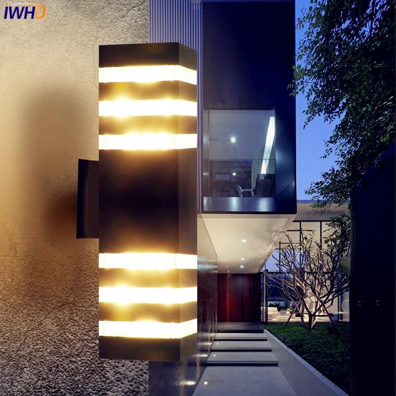 IWHD Simples Luz de Parede Exterior De
