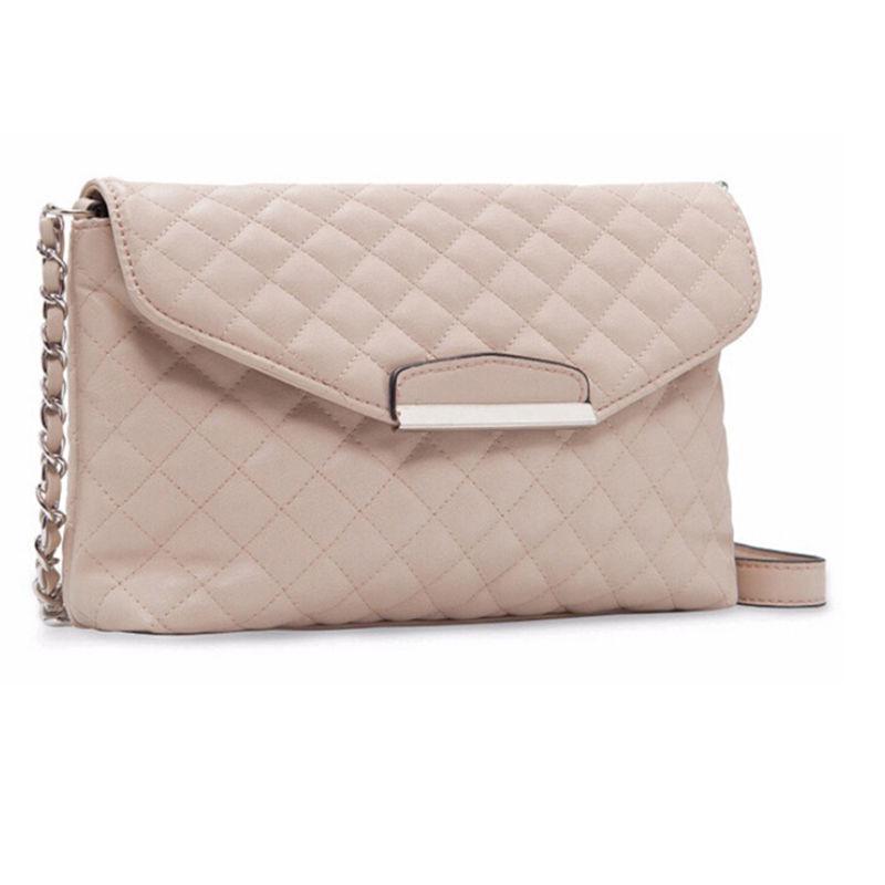 bb6af66820b7 2019 один Crossbody сумка белый черный Малый Boho сумки для женщин обувь  для девочек искусственная из искусственной кожи цепи плед клатч 1 шт купить  на ...
