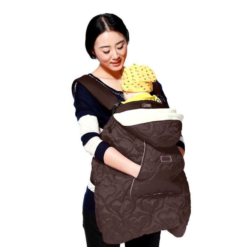 245c2760cbf Beth Bear Hooded Baby Carrier Cover Coat Baby Sling Wrap Warm Mantle Infant  Windproof Backpack Carrier
