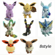 2018 Free Shipping Plush Umbreon Espeon Glaceon Vaporeon Eevee Plush toy Figures Toys 20cm Soft Stuffed Anime Cartoon Dolls 9 styles 20 30 cm plush hot toys mimikyu cosplay sylveon umbreon eevee espeon vaporeon flareon leafeon stuffed animal soft dolls