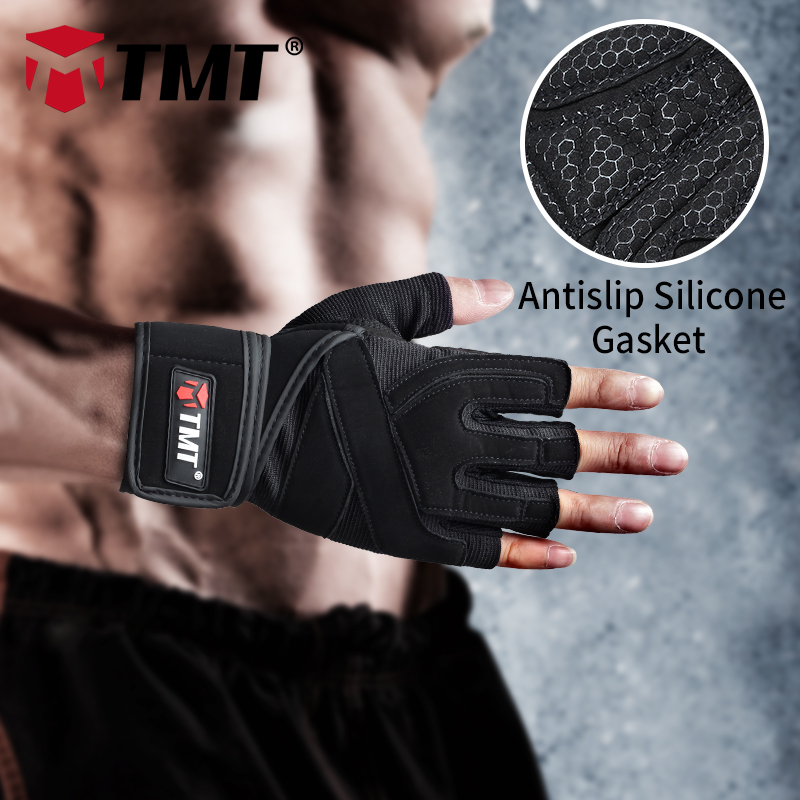 TMT <font><b>gym</b></font> weight lifting <font><b>Gloves</b></font> Dumbbell Weightlifting Fitness Exercise Non-Slip Breathable Half Finger sports Training <font><b>Gloves</b></font>
