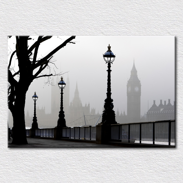 Free Shipping Hot Sell Modern Wall Painting Of  Canvas Prints Form Photo Of Big Ben Fototapeta Londyn Decorative Art Print