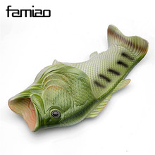 2017 Handmade painted Slippers fish slippers woman Personality fish sandals women bling flip flops slides fish