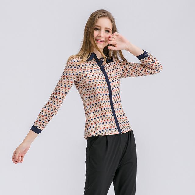Women Fashion Tops 2017 Korean New Long Sleeved Cardigan Clothing Lapel Summer Chiffon Blouse Colorful High Quality Slim Cool