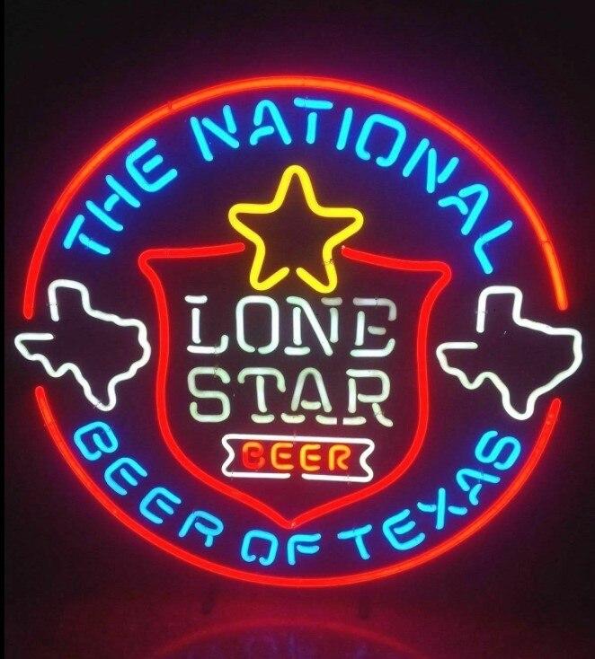 Nach Lone Star Nationalen Bier Von Texas Glas Neon Licht Zeichen Bier Bar
