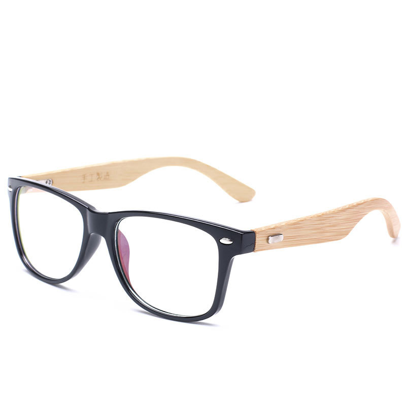 2016 Handwerk Retro Bambus Holz Brille Männer Frauen Marke Designer Klare Linse Glasrahmen Optische Brillen N551