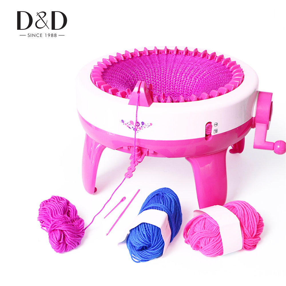 40 Needle Positions Big Hand Knitting Machine Weaving Loom Knit DIY Scarf Hat Children Educational Toys