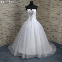 2018 New Arrival Bridal Tulle White Ivory Wedding Dress Bridal Gown Custom Size 4 6 8