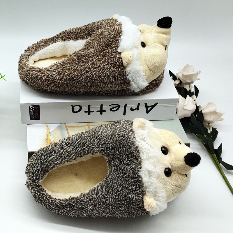 Indoor Slippers Special dog offer custom a warm winter hedgeh lovers home slippers thick hard bottom shoes on floor lovers shoes 3