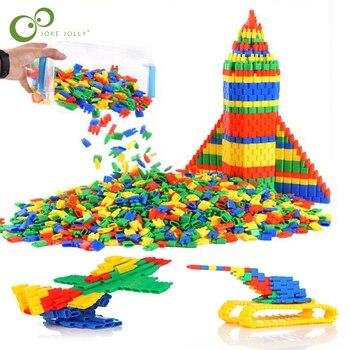 100 sztuk zabawka do montażu Kid do rozwijania inteligencji, aby wstawić bloki Bullet zabawka budowlana zabawki edukacyjne luzem dziecko prezent ZXH