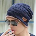 New Fashion Winter Men Warm Hat Beanies Crochet Knitting Thick Wool Cap Women Outdoor Sport Skullies Fur Warm Baggy Beanie Hats