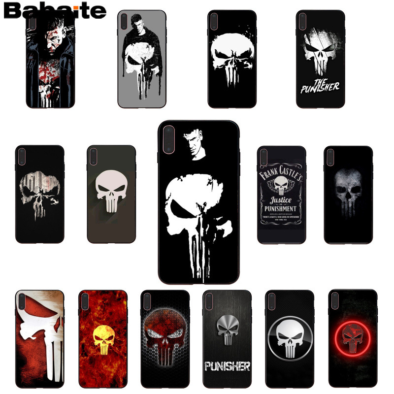 Enthusiastic Babaite The Punisher Frank Castle Novelty Fundas Phone Case Cover For Iphone 8 7 6 6s Plus 5 5s Se Xr X Xs Max Coque Shell Phone Bags & Cases