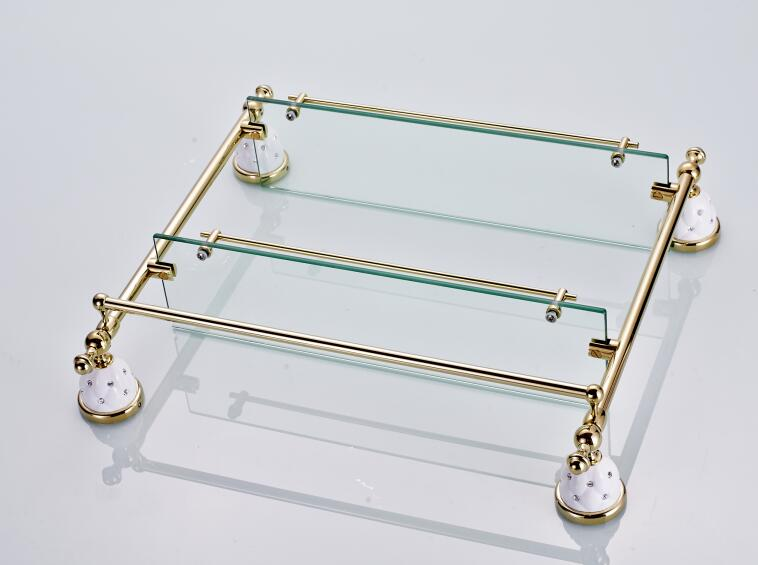 Estante De Vidro Temperado : Vidro temperado prateleira de vidro duplo banheiro prateleira do