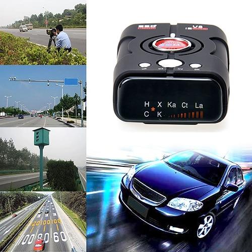 V8 Car Radar Detector Full-Band Scanning Advanced Safety Laser Defense Systems