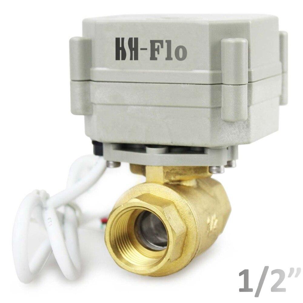 HSH Flo 1 2 DN15 110 230VAC 2 Way Motorized Ball Valve Normally Closed Brass CR2