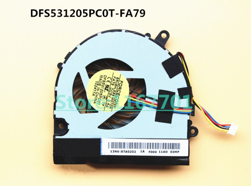 New Original Laptop/Notebook CPU/GPU Cooling Fan For <font><b>MSI</b></font> <font><b>CX480</b></font> DFS531205PC0T-FA79 13N0-XTA0202 image