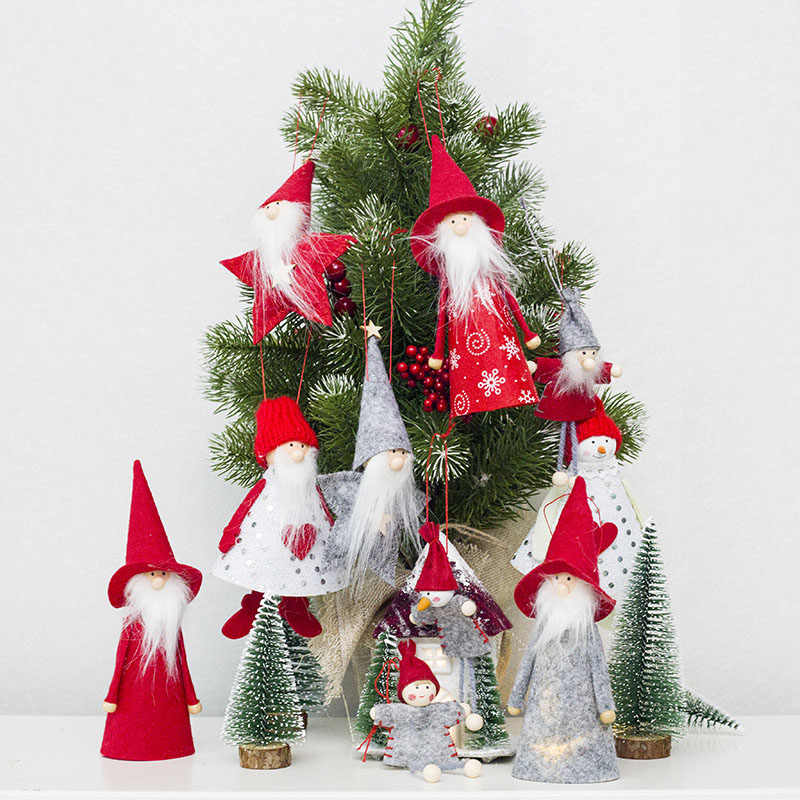 Christmas Tree Decorations 2019.2019 New Year Decorations Santa Claus Pendant Christmas Tree