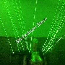 Hh10-2 Зеленый цвет лазерной жилет Бар партия реквизит костюмы, выполняющие световой одежда с подсветкой бальные танцы Лазерная Человек